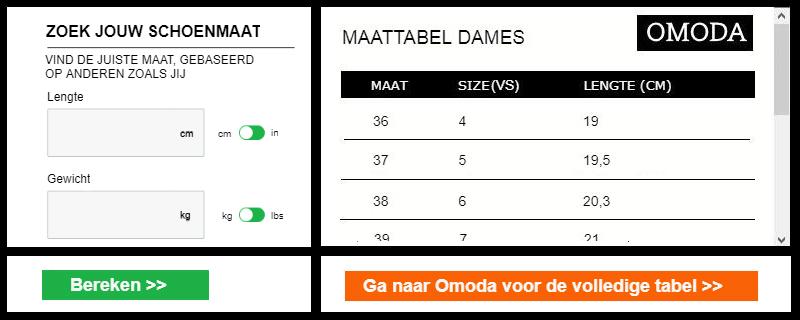 Omoda dames tabel